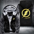 USA size The Flash Men Women Jacket Zipper Hoodie Winter Fleece Unisex Thicken Coat