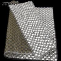 6 6mm Crystal Bead Trimming Rhinestone Iron On Transfer Design Strass Crystal Mesh Roll Wedding Bridal