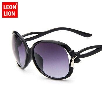 LeonLion 2019 Butterfly Mirror Foot Sunglasses Women Plastic Oval Sun Glasses Luxury Travel UV400 Lunette De Soleil Femme 1