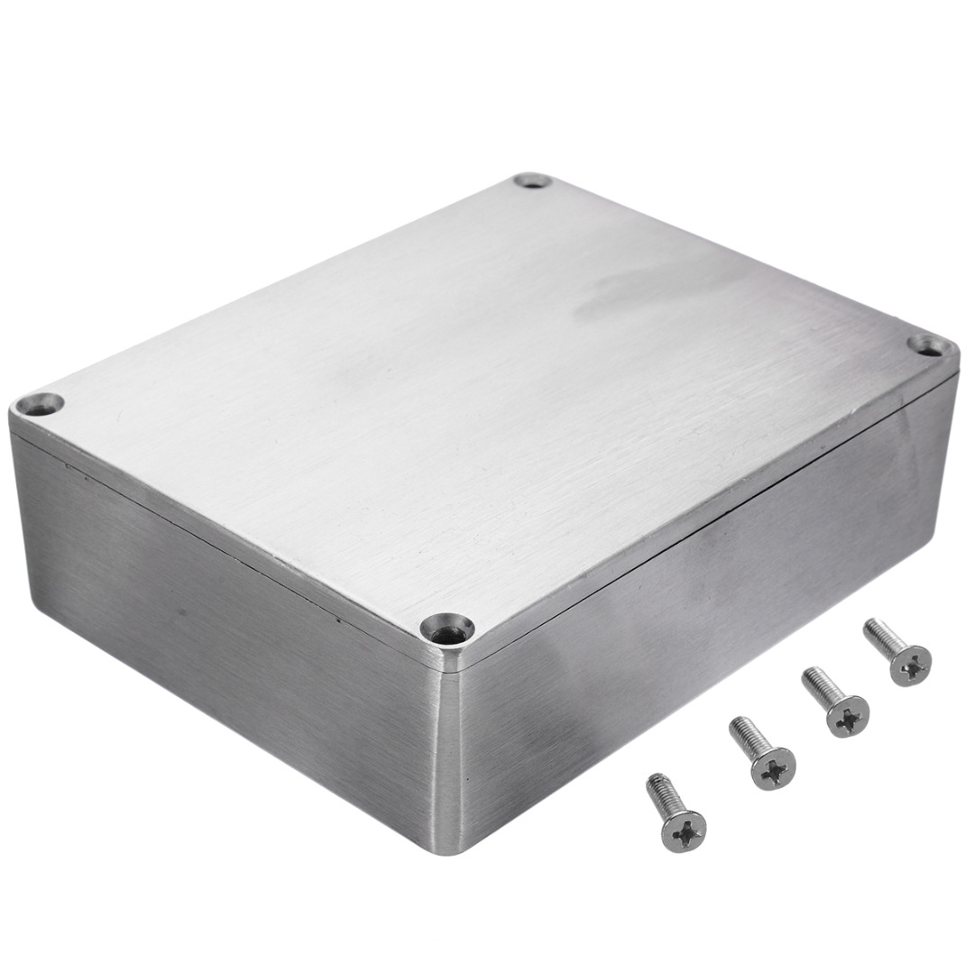 Silver Aluminium Enclosure Instrument Box Electronic Diecast Stompbox Project Box Enclosure With Screws 3 Sizes