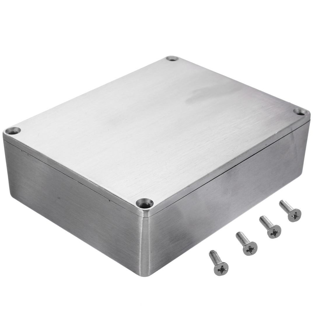 Silver Aluminium Enclosure Instrument Box Electronic Diecast Stompbox Project Box Enclosure With Screws 3 Sizes