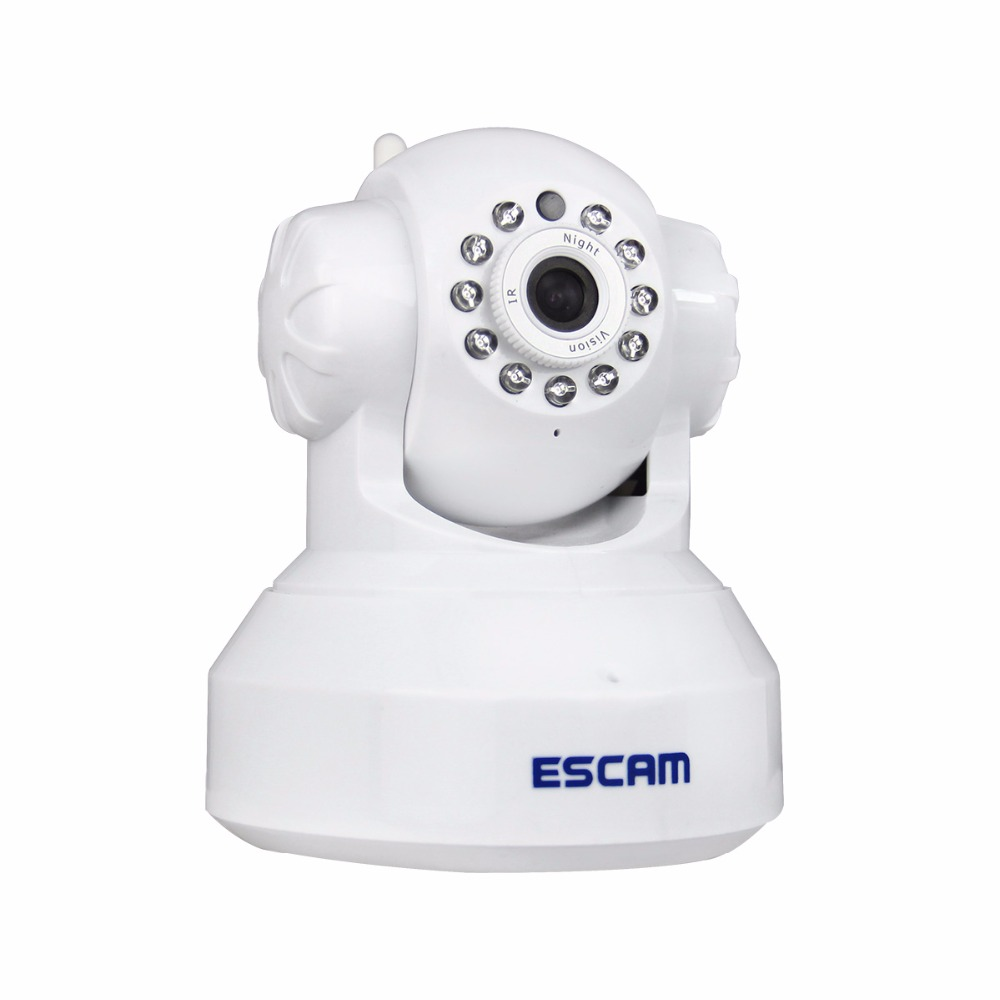 Escam QF001 HD 720P 1MP Mini Dome Indoor Infrared Pan/Tilt Two Way audio Smart WIFI IP Camera Support 32GB Card for IOS/Android