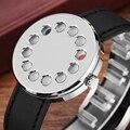Мужские часы  оригинальные кварцевые наручные часы с кожаным ремешком