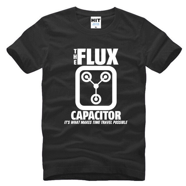 Back to the Future Flux Capacitor Black Short Sleeve Men T Shirt Size S-3XL
