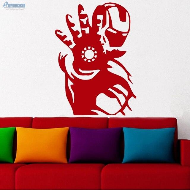 new arrival avengers hero iron man wall sticker home decor boys room