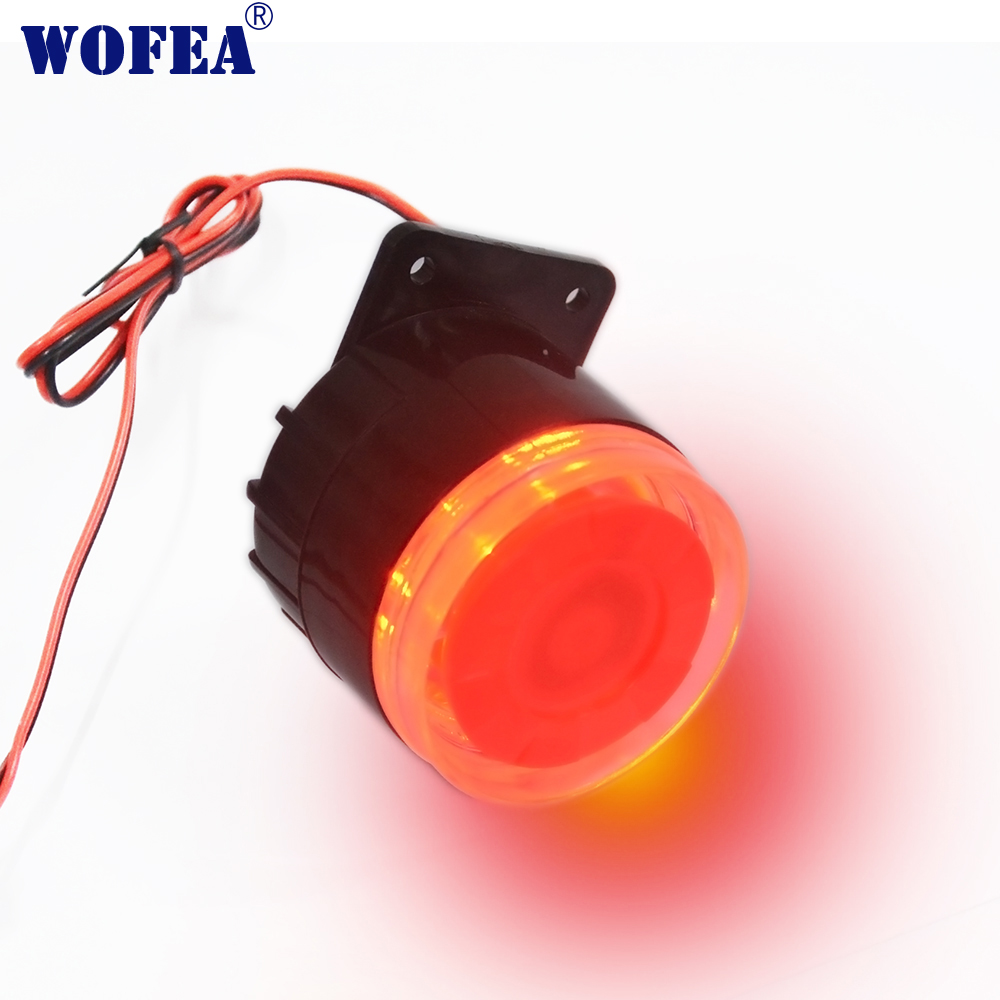 Free Shipping Wired Flash  Strobe  Siren Horn For Wireless Home Alarm Security System 100 DB Loudly Siren Sound & Light