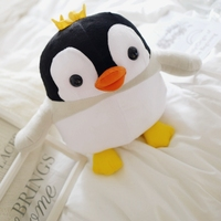Lovely Plush Penguin Dolls Fat Round Funny Cartoon Penguin Pillow Toy Room Decorations Baby Sleep Toy Birthday Holiday Gifts