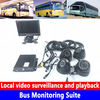 Audio and video 4 channels HD in-vehicle surveillance AHD960P/720P HD pixels Bus Monitoring Suite Freight car / box truck