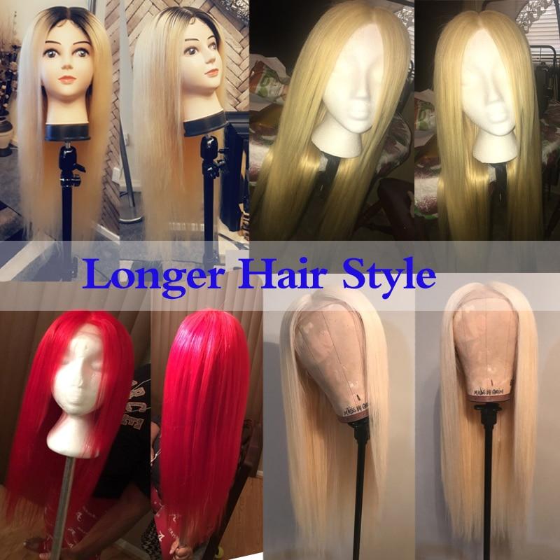 Wicca Fashion # 613 Blonde Perücken 130% Dichte Seidige Gerade - Menschenhaar (für Schwarz) - Foto 4
