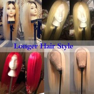 Image 4 - #613 Blonde Pruiken 180% Dichtheid Silky Straight Braziliaanse Remy Human Haarkant 613 Lace Front Menselijk Haar pruik Droom Schoonheid