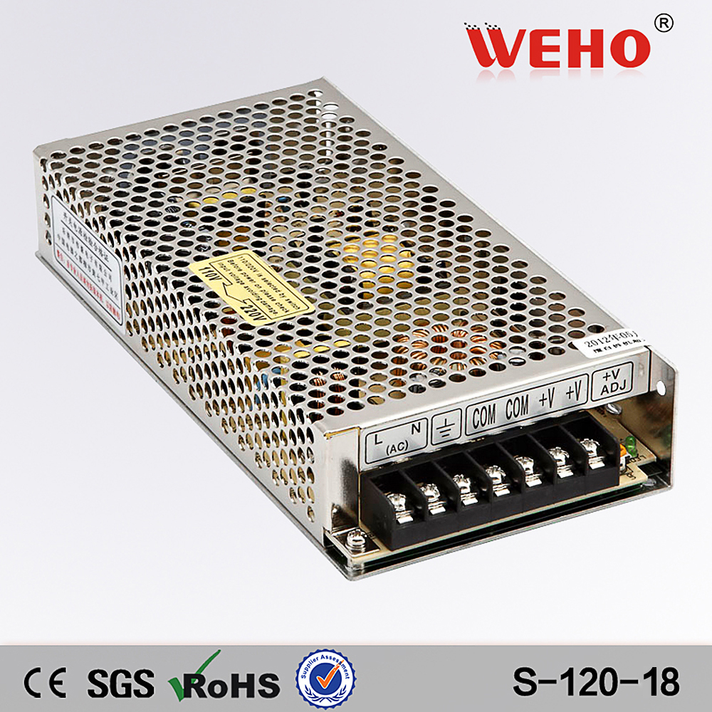 (S-120-18)AC-DC S-350-12 CE approved 120w 18v 6.7a single output led switching power supply for cctv power supply chinese wholesale ce approved led ac dc 24v 20a switching power supply 500w power supply units