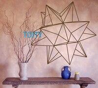 Origami Star Geometric Wall Decal Vinyl Sticker Art Decor Bedroom Design Mural H57cm X W57cm