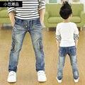 Детская одежда 2017 Весной и Осенью новый мальчиков дикие джинсы, детские брюки