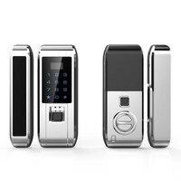 Wireless Remote Control Door Lock Office Keyless Electric Fingerprint/Password Lock With Touch Keypad Smart Card