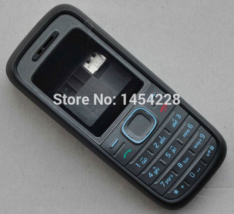 BINYEAE Full Housing Case Cover Facing Frame + Middle + Back Cover + Keypad For <font><b>Nokia</b></font> <font><b>1208</b></font> Cell Phone Part image