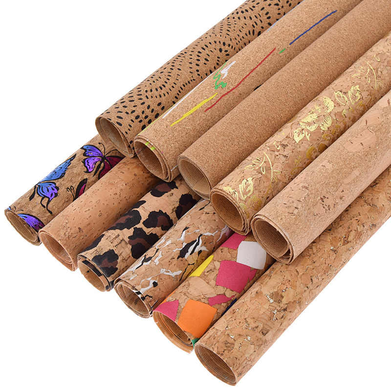 Retro Style Soft Cork A4 Fabric For Patchwork Garment DIY Sewing Craft Bag Shoes Bow Material Sheet Supplies