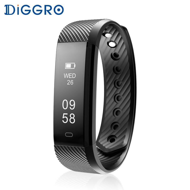 Diggro ID115HR Polsbandje Hartslagmeter Smart Armband Band FitnessTracker Waterdichte Bluetooth voor Android IOS VS Fitbits