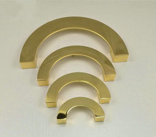 2.5 3.75 5 6.3 Polished Gold Semicircle Dresser Pull Drawer Pulls Handle Knobs Drop Ring Kitchen Cabinet Door Handles
