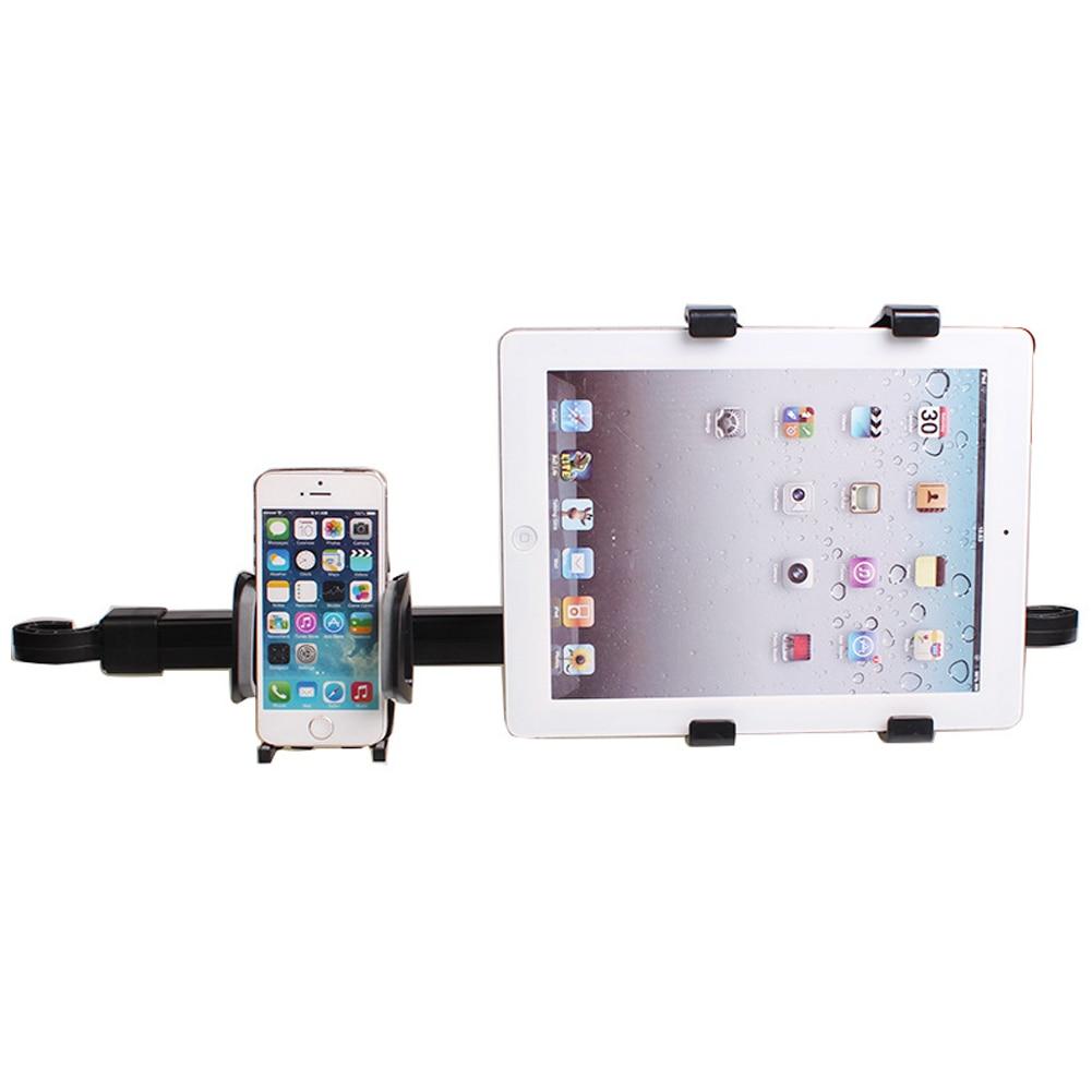 bilder für Universal 2 in1 Für Tablet PC Smartphone Doppel Gebrauchte Universal Auto Rücksitz Kopfstütze Halterung Stehen Halterung Unterstützung