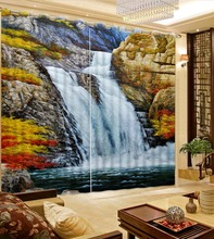waterfall curtains Customized size Luxury Blackout 3D Window Curtains For Living Room curtain
