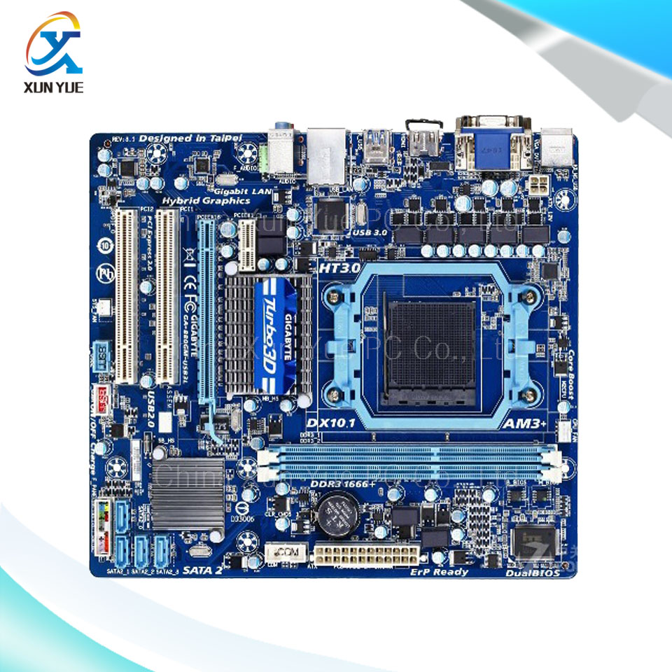 Gigabyte GA-880GM-USB3L Original Used Desktop Motherboard AMD 880G Socket AM3+  DDR3 SATA2 USB2.0 Micro ATX всесезонная шина кама 230 185 65 r14 86н