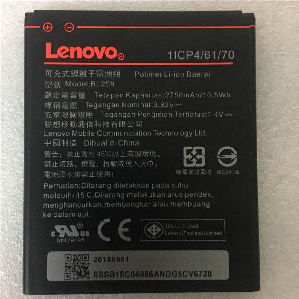 1 pcs 2750mAh Bateria Para Lenovo vibe k5 plus K32C30 BL259 K32C36 + Código de Rastreamento