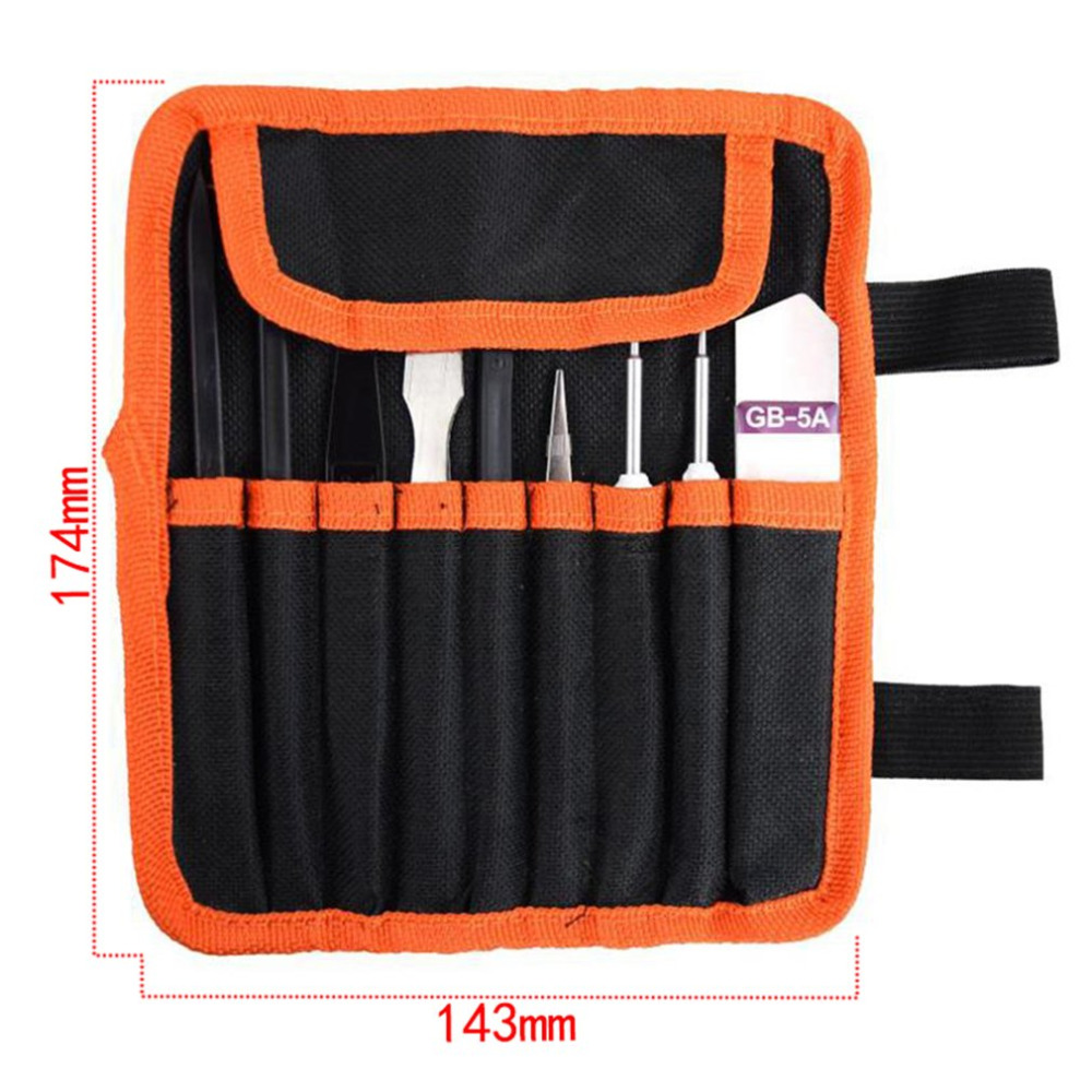 9 in 1 Repairing Tool Kit repair pry kits Cell Phone LCD opening tools Set Disassemble Tablet watches TV Screwdriver With Bag