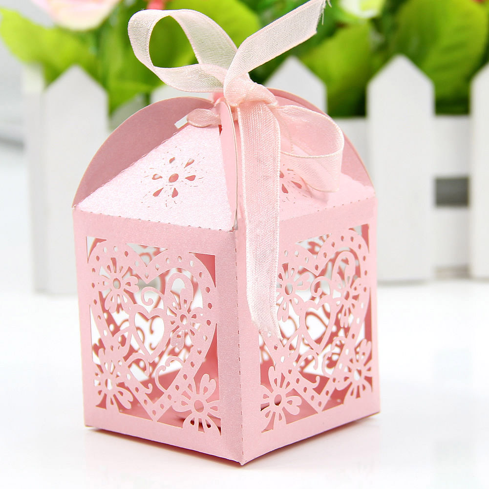 Romantic Heart Candy Box for Wedding Decoration Paper Laser Wedding ...