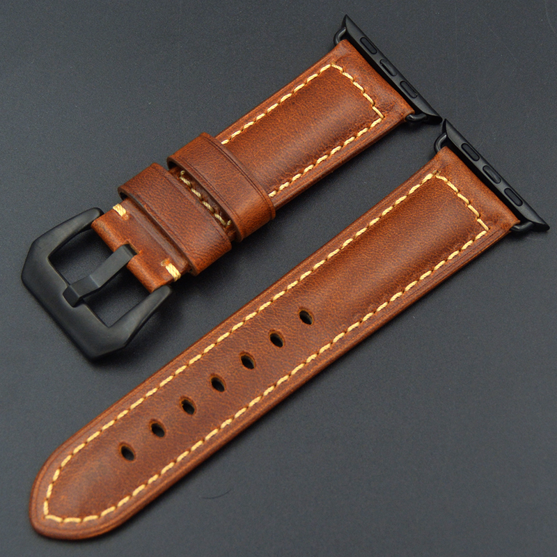 For iwatch men women High Quality Blue green retro brown Color Genuine Leather 38mm/42MM Width For Apple Watch Strap watchBands