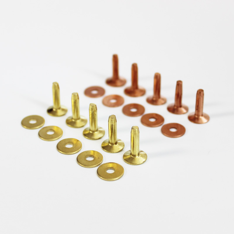 Brass/copper Rivets For Leather With Burrs Permanent Fasteners Gauge Leather Crafts Horse Tack Rivet Nut Washer