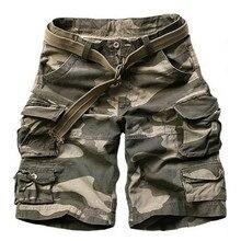 Летние мужские камуфляжные шорты армейского зеленого цвета, повседневные камуфляжные шорты до колен, мужские короткие брюки-карго, бермуды, мужские шорты с поясом