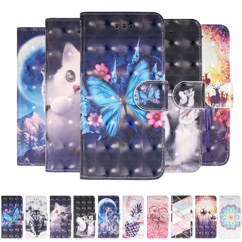 2019 3D Wallet Cases For <font><b>Samsung</b></font> A20E A70 <font><b>A50</b></font> A40 <font><b>Flip</b></font> TPU Leather <font><b>Cover</b></font> Galaxy Note 10 Pro A20 A30 A10 A60 A80 Phone Case BOOK image