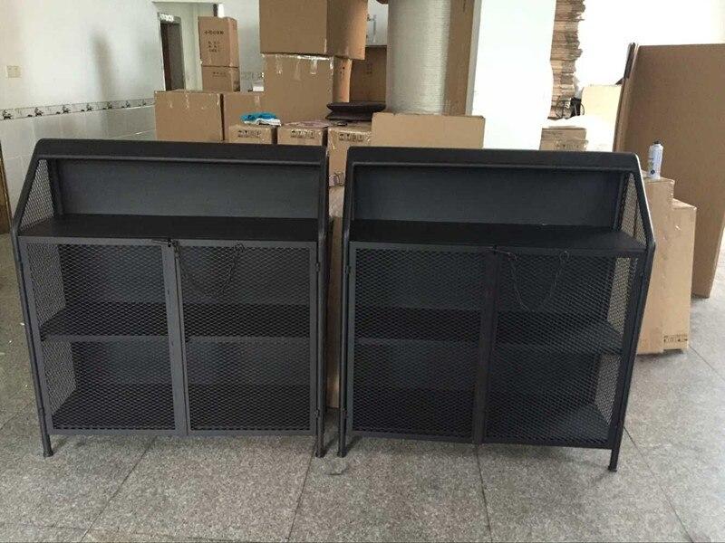 Metalen Kast Retro : Industriële loft stijl smeedijzeren dressoir opbergkast kasten