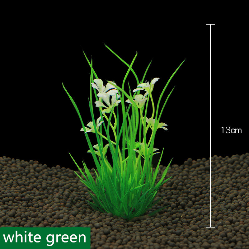 2017 New 13cm Underwater Artificial Aquatic Plant Ornaments For Aquarium Fish Tank Green Water Grass Landscape Decoration(China)