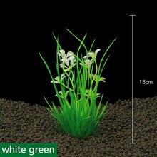 2017 neue 13cm Unterwasser Künstliche Wasserpflanze Ornamente Für Aquarium Grün Wasser Gras Landschaft Dekoration