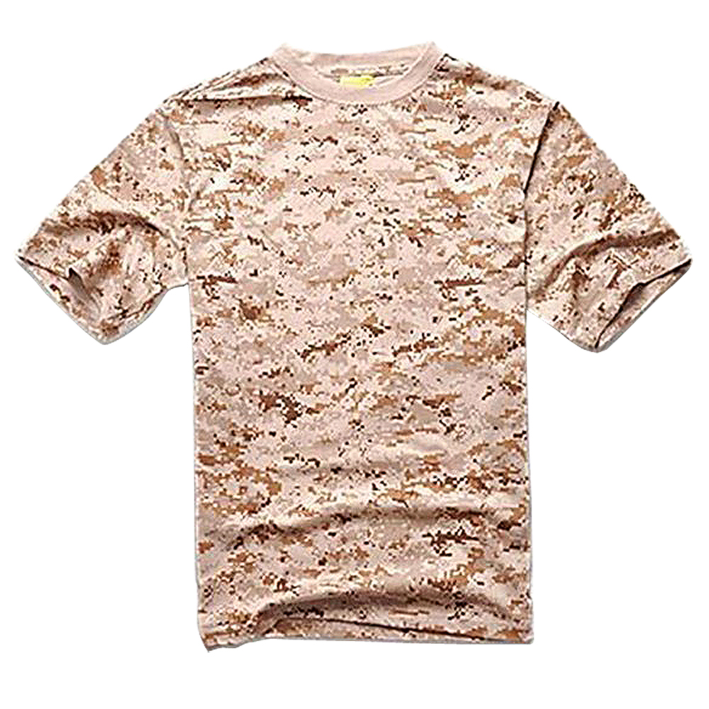 ELOS-Outdoors Hunting Camouflage T-shirt Men Army Tactical Combat T Shirt Military Dry Sport Camo Outdoor Camp Tees SD M
