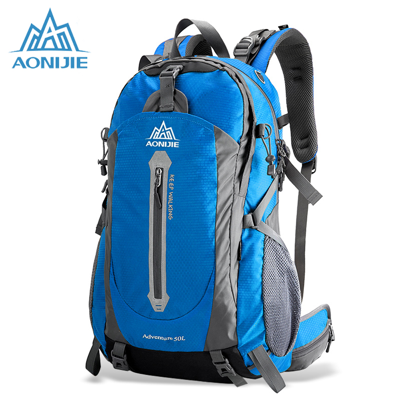 AONIJIE Climbing Backpack Outdoor Sports Backpacks Ultralight Outdoor Running Cycling Bag Big Capacity Hiking Bags HT9018 mountec large outdoor backpack travel multi purpose climbing backpacks hiking big capacity rucksacks sports bag 80l 36 20 80cm