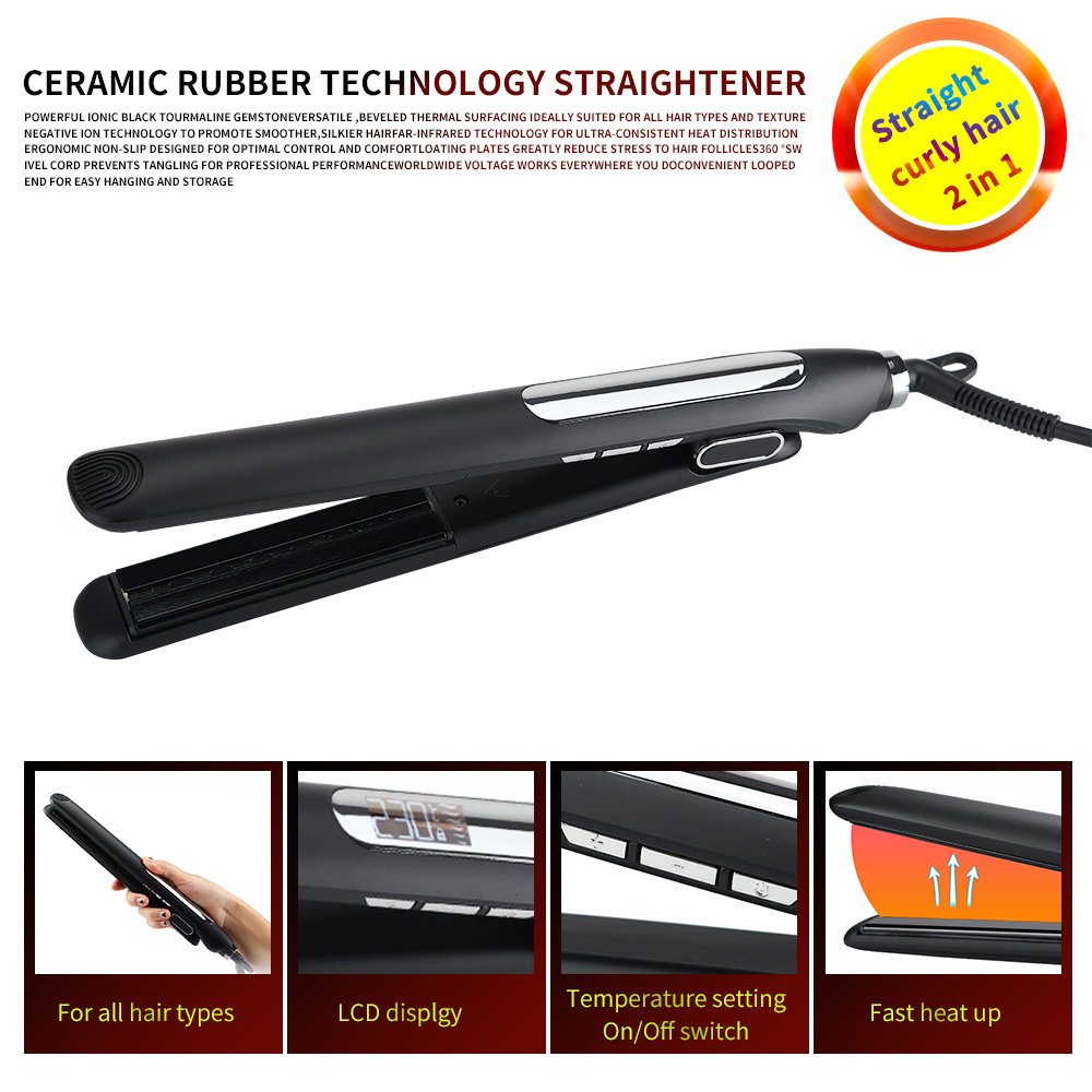 Professional Hair Straightener Ceramic LED display Flat Iron Infrared heater Hair Curler Curling Iron Salon Styling ToolsProfessional Hair Straightener Ceramic LED display Flat Iron Infrared heater Hair Curler Curling Iron Salon Styling Tools