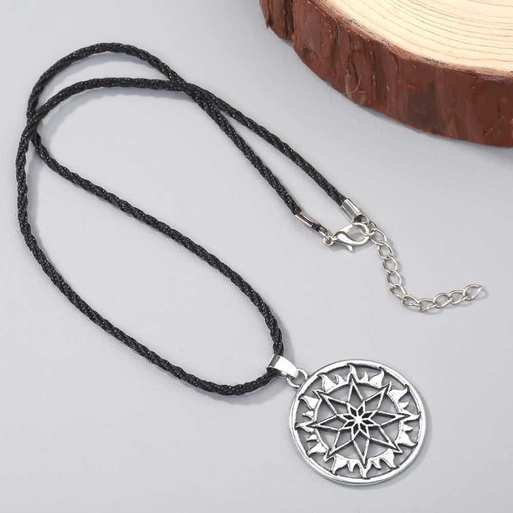 Hongxun collar con colgante de vikingo para hombre collar Alatyr Star eslavo joyería sol amuleto con símbolos colgante mejor amigo
