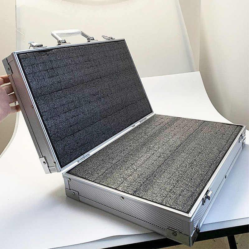 Gereedschapskist Aluminium Tool case koffer Bestand doos slagvast apparatuur camera case instrument doos met pre-cut foam