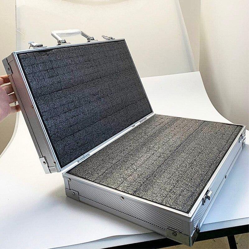 Tool Box Aluminium Werkzeug koffer Datei box Auswirkungen beständig ausrüstung kamera fall instrument box mit pre-cut schaum