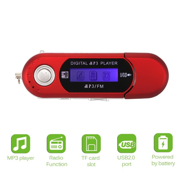 Portable Mini MP3 LCD Display Digital USB Stick Music MP3 Player Support TF Capacity Max 32G FM Radio Support for Dropshipping