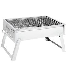 Outdoor portable stainless steel folding grill charcoal rack camping BBQ