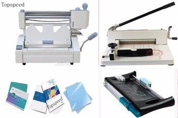 Perfect book binding machines kits 3 in 1 combo Perfect book binder + Stack paper cutter + Paper trimmer