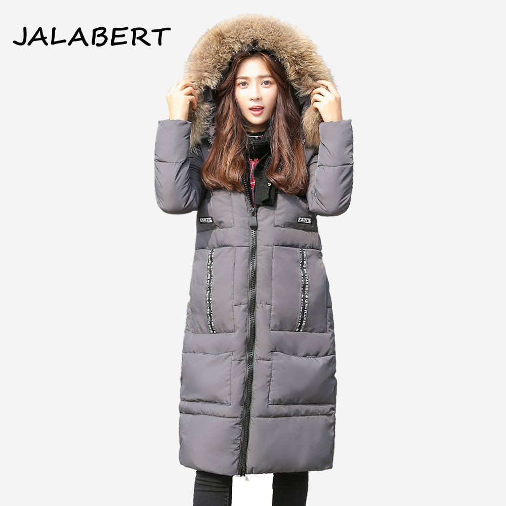 2017 New winter cotton coat women long Loose thick warm jacket fashion Hooded Fur collar Female Big pocket Parkas 2017 winter new cotton coat women slim long hooded thick jacket female fashion warm big fur collar solid hem bifurcation parkas