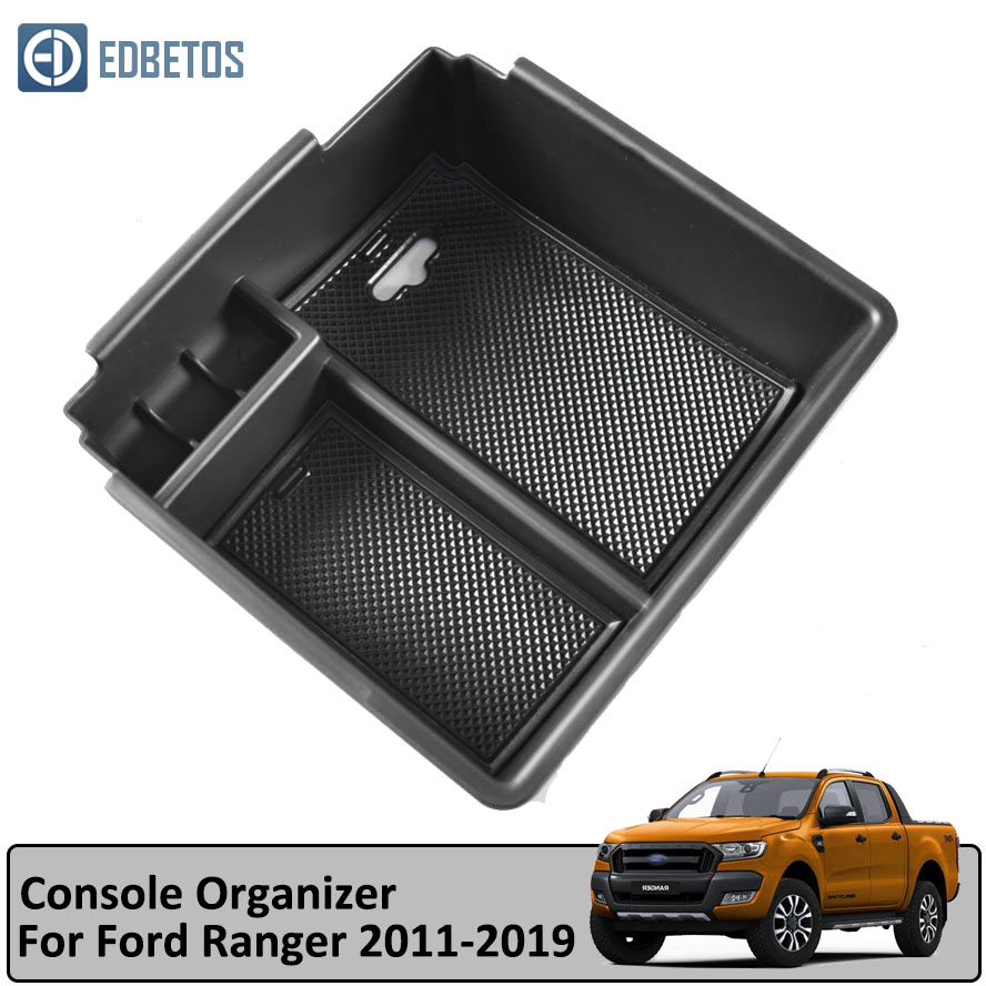 Image 2 - RANGER Armrest Box for Ford RANGER 2011  2017 2018 2019 Extended Wildtrak Console Holder Tray Car Organizer Accessories-in Stowing Tidying from Automobiles & Motorcycles
