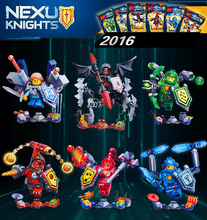Children s Day Gifts 6pcs lot Nexu Knights Plastic Assembly Toys Building Models Lego Compatible Blocks