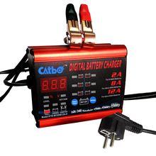 CATBO 8A12A 2A Carregador de Bateria inteligente, GEL MOLHADO tipo de Bateria AGM & corrente de Carga selecionável, carregador de bateria de carro
