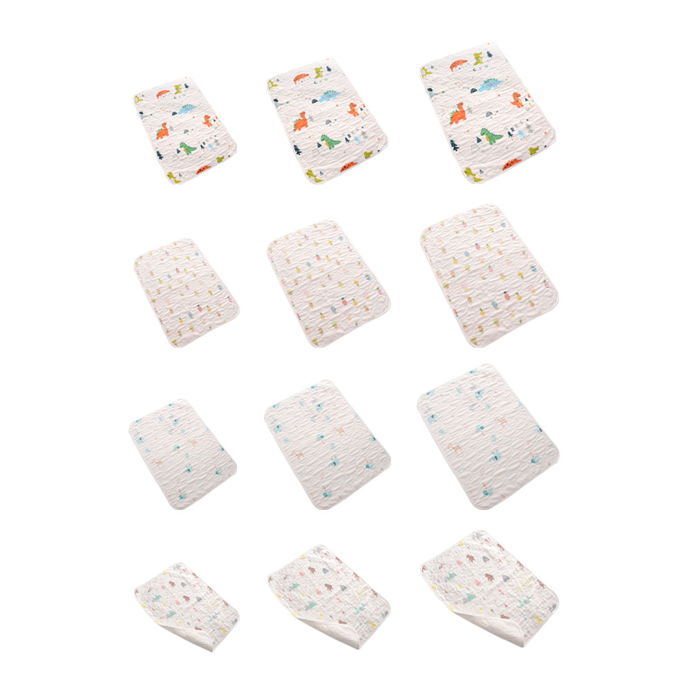 Portable Foldable Washable Waterproof Baby Changing mat Infants Mattress Cartoon Changing Pad Floor mats Cushion Reusable Diaper