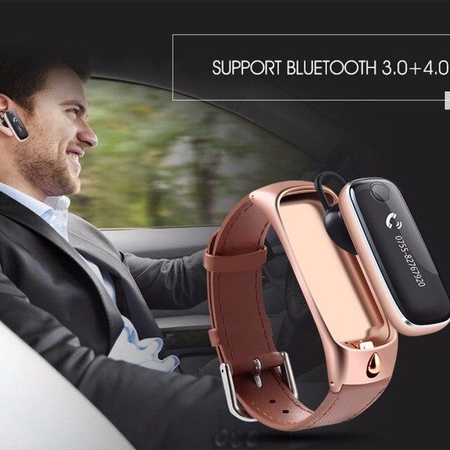 New qualidade superior m6 smart watch pulseira esportes pulseira smartband/fone de ouvido bluetooth fone de ouvido para ios android o25